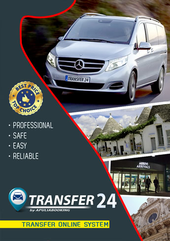 Prenota un transfer con conducente su TRANSFER24.it